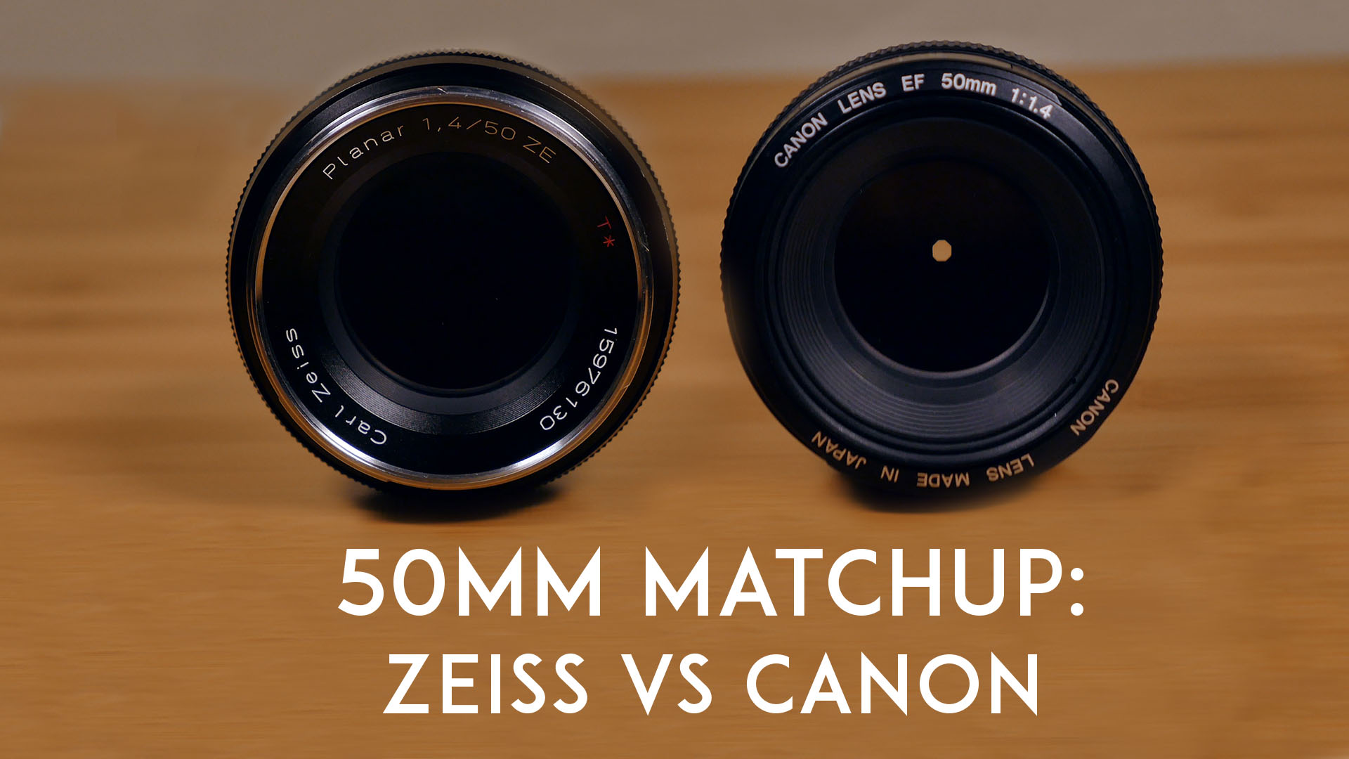 zeiss ze 50mm f1 4 vs canon ef 50mm f1 4 youtube thumbnail. Black Bedroom Furniture Sets. Home Design Ideas